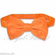 Classic New ORANGE Men's Pre-tied Bowtie Bow tie wedding Party Prom