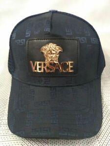New Versace Unisex Hat Golf Cap Sport Baseball Outdoor Adjustable Blue Hat
