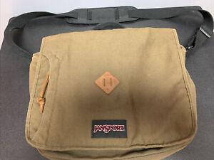 Jansport Crosstalk Messenger Laptop Bag Green TZW1 Adjustable Shoulder Strap