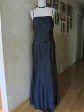 JS Collections Petite Navy Blue Midnight Maxi Sleeveless Evening Dress Size 6
