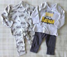 DC Comics Batman 2 x Baby Boys Blue Pyjamas/PJ's/Nightwear/Sleepwear 3-6 Months