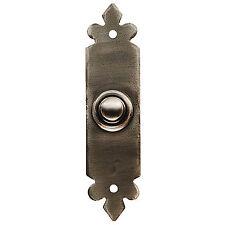 Door Bell Switch / push Hand beaten Wrought Iron Rust Resistant Pewter (PE5634)