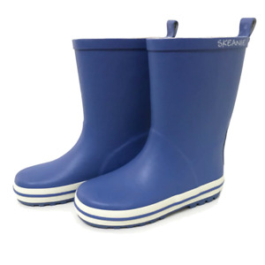 NEW SKEANIE Toddler & Children Natural Rubber Gumboots Classic Blue. Sizes EU20