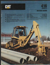 "Caterpillar ""416 Series II"" Backhoe Loader Brochure Leaflet"
