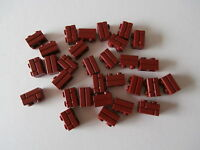 LEGO 30 x Mauerstein / Ziegelstein / Klinker 98283 in new dark red 1x2 Nop. NEU