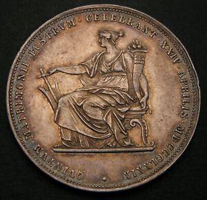 AUSTRIA 2 Florin 1879 - Silver - Wedding Anniversary - Franz Joseph - VF - 727