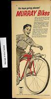 1961 Murray Bikes Child Riding Vintage Print Ad 4733