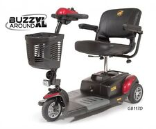 Golden Technologies GB117 Buzzaround XL 3 Wheel Mobility Scooter Portable Travel