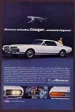 1966 Vintage Lincoln Mercury Cougar 1967 Car Photo Print AD