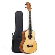 Solid Spruce Top Tenor Ukulele Hawaii Guitar Mahogany Bone Saddle W/Bag 26 Inch