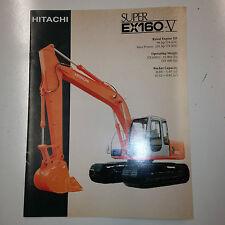 Hitachi Super EX160V Hydraulic Excavator Sales Literature & specifications.