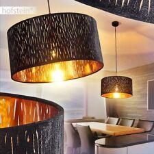 Wohn Schlaf Ess Zimmer Raum Lampen Stoff graubraun Hänge Pendel Leuchten modern