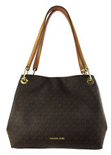 MICHAEL KORS RAVEN  MK Signature Brown PVC LG Shoulder Tote Bag Msrp $298