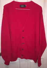 Vintage Izod Men's Red Cardigan Sweater Size XL