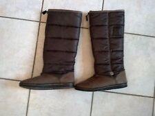 Stiefel Winterschuhe Schuhe von Sansibar in Größe 37 gefüttert in grau braun