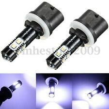 Pair 50W 880 893 892 PG13 Crystal White LED Fog Driving Light Bulbs 7000K 1800LM