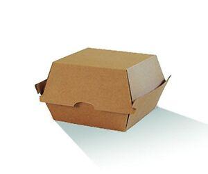 Burger Box - Brown Corrugated Kraft - Plain  250 pcs