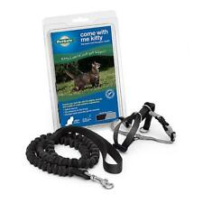 PetSafe COME WITH ME KITTY Cat Harness and Bungee Leash Black/Silver Medium
