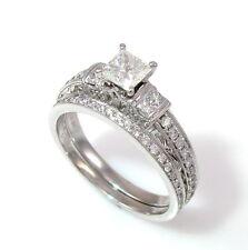 Designer NEIL LANE Diamond Wedding Set Engagement Rings in 14K White Gold   GM