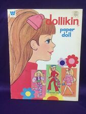 New ListingVintage Paper Dolls-Whitman #1958. (Uneeda) Dollikin Doll & Clothes. 1971.