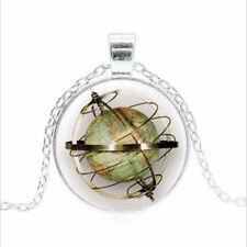 Steampunk, globe, Earth Tibet silver Glass dome Necklace chain Pendant Wholesale