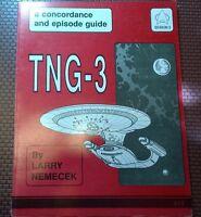 Star Trek TNG-3 Concordance & Episode Guide Trade Book SC