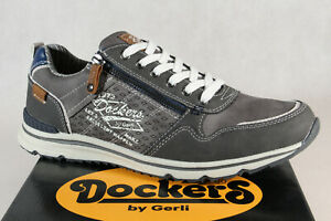 Dockers Homme Chaussures à Lacets Baskets Chaussures Basses Gris 42MO003 Neuf