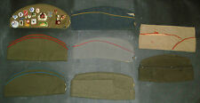 Lot 8 calots (pins LENINE URSS ) armée police US Russe Bundeswehr - Etat divers
