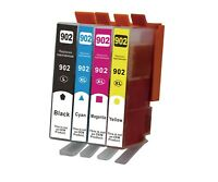 4 INK 902L, XL Remanufactured for HP 902XL OfficeJet 6954 6962 6968 6978