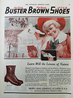 1920  Buster Brown Shoe Company Style No. F93 Girls Boys Shoes Color Original Ad