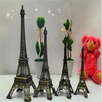 Bronze Tone Paris Eiffel Tower Figurine Statue Vintage Model Decor Alloy 7Siz Wt