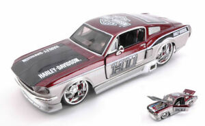 Model Car Scale 1:24 Ford MUSTANG Gt Harley Davidson diecast motorcycle