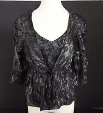 NWT Pretty Angel Womens Bolero Jacket Matching Camisole Set Grey Gray Black M W7