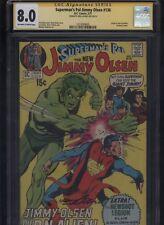 Superman's Pal Jimmy Olsen #136 CGC 8.0 SS Neal Adams 1971 JACK KIRBY