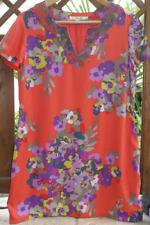 BODEN Kleid kurz Tunika orange grün lila floral UK 14 Gr. 40-42 / L Neu