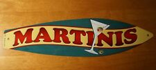 Martinis Surfboard Sign Tropical Drinks Cantina Beach Tiki Bar Home Decor New