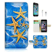( For iPhone 7 Plus ) Wallet Case Cover P1235 Sea Star