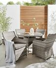 Outdoor Grey 5 Piece Dining Table And 4 Chairs  Garden Conservatory Furniture