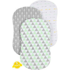 3Pc Soft Baby Bassinet Set Cradle Fitted Sheets Mattress Pads Sleeper Cover Pads
