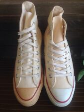 80s VINTAGE CONVERSE ALL STAR SHOES HIGH WHITE CANVAS MENS  size 7 MADE IN USA