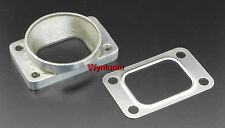 "T3 Turbo Inlet To 3"" OD Mild Steel Pipe Weld Tapped Adapter Flange + SS Gasket"