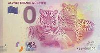BILLET 0  EURO ALLWETTERZOO MUNSTER ALLEMAGNE  2017  NUMERO 100