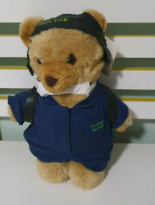 RACQ CAREFLIGHT TEDDY BEAR CAREFLIGHT MEDICAL DOCTOR FACE MASK GREEN POCKET