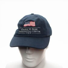George W. Bush Presidential Center Cap Hat Blue With Flag Made in USA