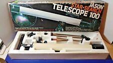 Vintage Jason Star Search Telescope 100 With 50MM Lens Metal Tripod Original Box