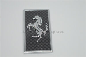 Ferrari Carbon Fiber Front Bonnect Front Bumper badge Emblem