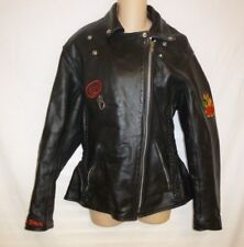 Hasbro Leather Women's Motorcycle Jacket SZ L $249