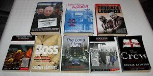 8 x Football/Firm/Hooligan Books. Hardback & Paperback. Great Value!