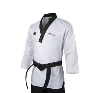 Mooto Poomsae Uniform TAEBEK Dobok WT Kukkiwon TKD (Dan_male) Black_Neck