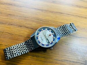 Vintage RADO VOYAGER White  2/Tone Dial  Date Automatic , Gents Watch, Swiss mad
